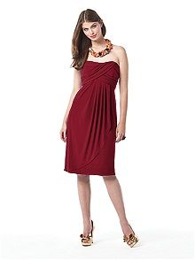 Dessy Collection red bridesmaid dresses
