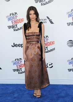 Emily Ratajkowski in Brock Collection - 2018 Film Independent Spirit Awards, Santa Monica - March 3 2018