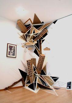 "Clemens Behr.  Disorder (2009) installation in the Museum of Sculptures ""Glaskasten"" Marl, Germany."