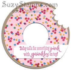 Stampin' Up! Cards - 2015-09 Class - Donut Card - Wondrous Wreath, Endless Birthday Wishes, Celebrate Today and Remembering Your Birthday stamp sets, Circle Framelits, and Scallop Circle Punch
