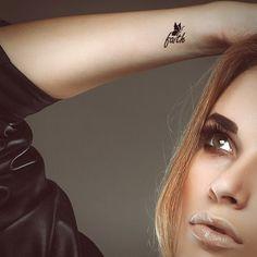 Faith tattoo. Typography tattoo. Temporary tattoo