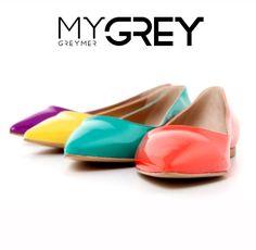 #flat #shoes #color #mygrey #greymer