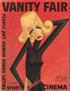 Vanity Fair Greta Garbo on cover February 1932 by Miguel Covarrubias