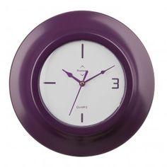 Wall Clock, Purple Plastic