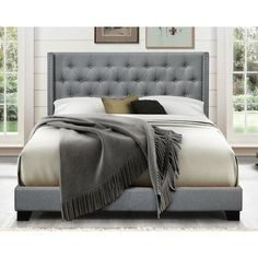 Looking for Gloucester Tufted Upholstered Standard Bed Greyleigh ? Check out our picks for the Gloucester Tufted Upholstered Standard Bed Greyleigh from the popular stores - all in one. Upholstered Platform Bed, Upholstered Beds, Tufted Bed, Platform Bedroom, Bungalow, Twin Daybed With Trundle, Lit Simple, Bed Reviews, Panel Bed