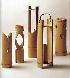 Resultado de imagem para lamparas em bambu
