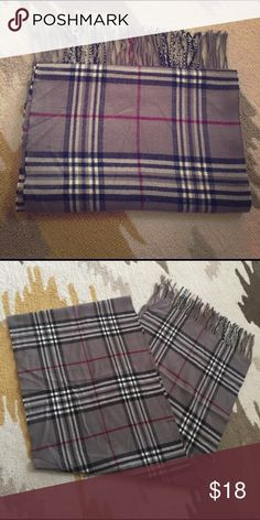 Scarf Soft & classic style scarf. This is not a real Burberry scarf. Accessories Scarves & Wraps