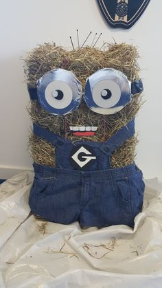 Minion Scarecrow made for a charity competition.