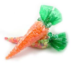 Jellybean Carrot Bags for those Year of the Rabbit dol party favors