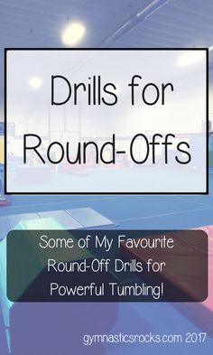 Hey everyone! I'm talking round-offs today and I'm going to be sharing some of the drills I use most often and see the best results from. Since a round-off is the starting skill …