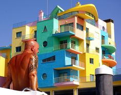 Portugal - Colourful Body-Building! (Albufeira Harbour, Portugal)