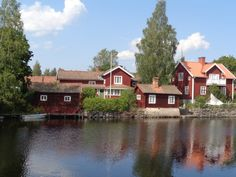 Sweden, Carl Larson country in Dalécarlie Sweden, Cabin, Country, House Styles, Home Decor, Decoration Home, Rural Area, Room Decor, Cabins