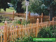 French Gothic Top Spaced Picket Fence With Convex Solid