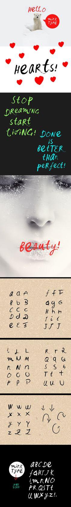 Mink Type - Free Font by filiz sahin, via Behance