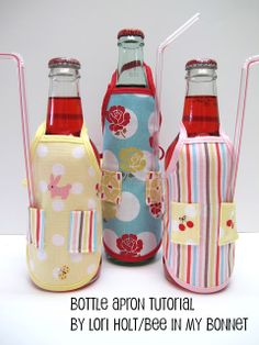 Bottle Apron Love this idea. Think I will be making some for my sister and I.