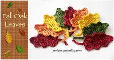 Thanksgiving, Harvest and Fall Crochet Pattern Roundup - Nicki's Homemade Crafts Crochet Leaf Free Pattern, Crochet Flower Patterns, Crochet Motif, Free Crochet, Crochet Ideas, Crochet Appliques, Crochet Afghans, Crochet Designs, Free Knitting