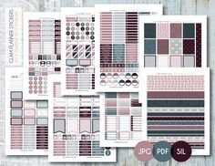 Free Monthly Printable Planner Stickers Set - Stormy Day - Erin Condren