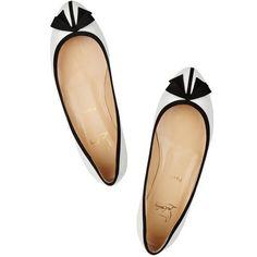 Christian Louboutin Balinodono Ballerinas Patent Leather Flat Wh