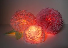 Paper Flower Centerpieces - Zipper 8 Lighting