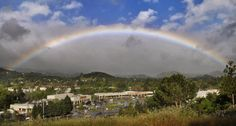 A full rainbow over Novato Thursday morning, April 26, 2012. By Robert Tong