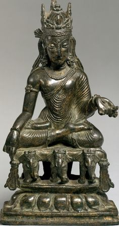 Akshobhya, the Transcendent Buddha of the East Date: century Culture: Pakistan (Northwest Frontier Province, Swat Valley) Medium: Bronze with silver and copper overlays Dimensions: H. Hindus, Buddhists, Asian Sculptures, East Pakistan, Tibetan Art, Divine Mother, Religious Icons, Buddhist Art, Swat