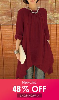 65e5599ca ZANZEA Women Long Sleeve Pure Color Asymmetrical Loose Shirts look not only  special, but also they always show ladies' glamour perfectly and bring  surprise.