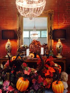 My country thanksgiving dining room