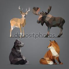 depositphotos_67896561-stock-illustration-wild-animals-in-geometric-style.jpg (1024×1024)