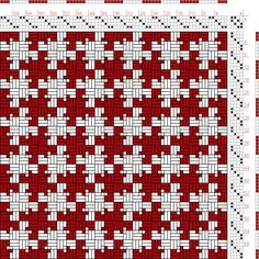 page 159, figure 11:Textile Design and Colour   William Watson   Longmans, Green & Co.   London, England   1912   4-shaft, 4-treadle