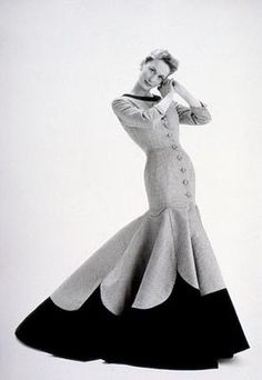 Coat dress, Lachasse, date: 1955 Repinned by www.lecastingparisien.com