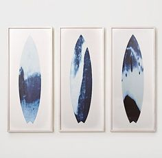 Abstract Surfboard Prints