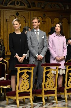 Charlotte Casiraghi Photos - (L-R) Beatrice Borromeo,Pierre Casiraghi and Charlotte Casiraghi attend a mass at the Cathedral of Monaco during the official ceremonies during the Monaco National Day Celebrations on November 19, 2015 in Monaco, Monaco. - Monaco National Day 2015
