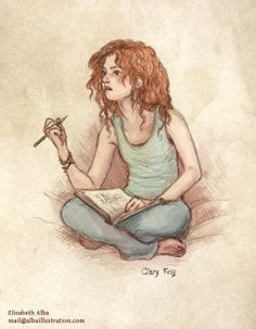Clary fray, the main character from the mortal instruments series. this entry was posted in fanart, sketches Clary Fray, Shadowhunters Clary And Jace, Clary And Sebastian, Art Sketches, Art Drawings, Divergent Funny, Cassandra Clare Books, Isabelle Lightwood, City Of Bones