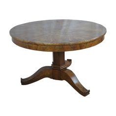 Art Deco Walnut Circular Table