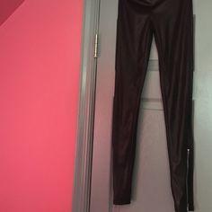Silky rocker zipper pants Silky rocker zipper pants Pants Leggings