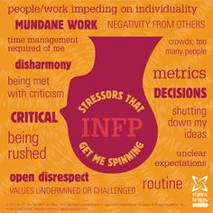 Stressors that get me spinning: check out this INFP stress head! #mbti #myersbriggs