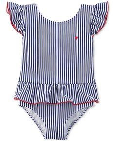 357953422a025 Carter's Striped Swimsuit, Baby Girls & Reviews - Swimwear - Kids - Macy's