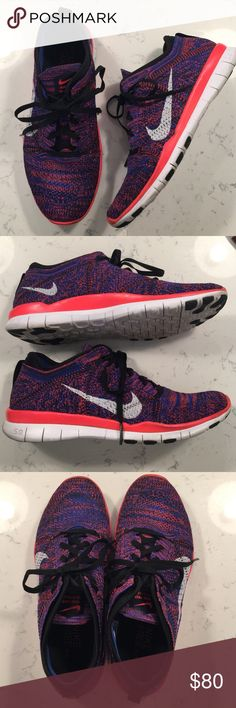 Women's Nike Free 5.0 TR Flyknit Training Shoes - Upper: Flyknit with Flywire Cables - Midsole- Neoprene Bootie - Outsole: Nike Free 5.0 Platform with Rubber Pods - Size: 8 Nike Shoes Athletic Shoes
