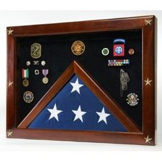military display case. one day I will get aaron one of these to put his medals in and his Grandpa's flag from his funeral