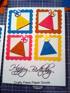 Fun party hat decorative birthday card