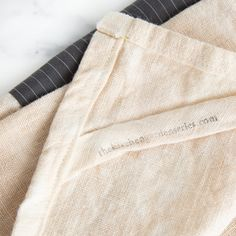 Made from linen and reclaimed shirtsleeves, these tea towels are then tea dyed to give them a lovely old world patina. Perfect for everyday kitchen use.