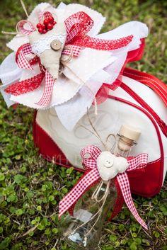 Χριστουγεννιάτικο σετ βάπτισης για κορίτσι με μπισκοτόσπιτο