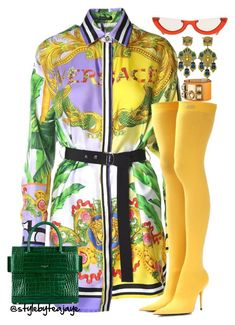 """Untitled #2788"" by stylebyteajaye ❤ liked on Polyvore featuring Versace, Balenciaga, PAWAKA, Gucci and Givenchy"