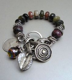Escape with Tourmaline, Agate, and Silver. This reminds me of my sister-in-law Katie. Very cool.