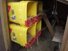 Great way to reuse those old cat litter buckets... would work for round ones as well.
