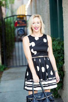 Black and white day dress-Kacee from Life with Lipstick On