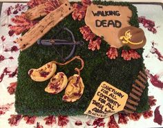 Mocha flavoured zombies. The Walking Dead cake.