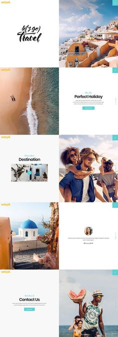 SetSail–Vacation Showcase : Showcase your travel tours and packages in a detailed manner with SetSail WordPress theme. It comes with striking tour lists and singles that allow you to enable various filters and search criteria. Travel Agency Website, Travel Website Design, News Website Design, Website Design Inspiration, Travel Design, Website Designs, Website Ideas, Travel Tours, Travel Packing