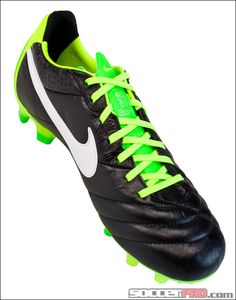Nike Tiempo Legend IV FG Soccer Cleats - ACC - Black with Electric Green....$143.99
