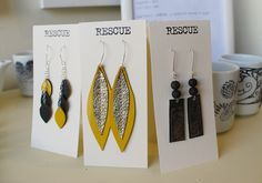 Rescue+leather+earrings.JPG 1,600×1,120 pixels